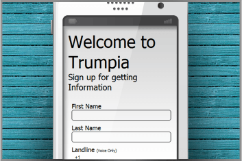 Mobile Phone Sign Up Page Example