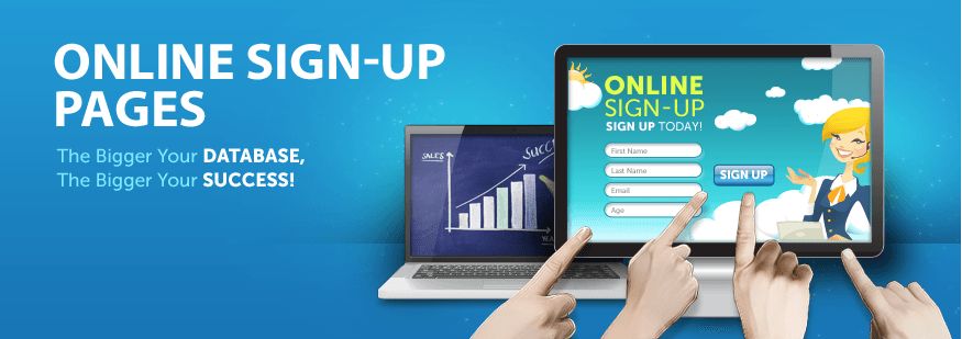 Online Sign Up Page Banner