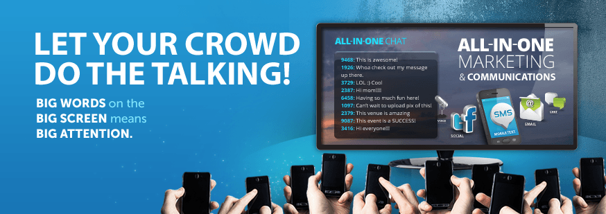 Engage with your audience using text to screen